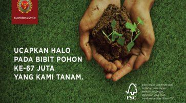 Sampoerna Kayoe Berhasil Tanam 67 Juta Pohon di Indonesia